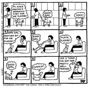 Ein Comic über den ich heute echt schmunzeln musste :-) Hundemenschen werden das sicher verstehen ;-)
