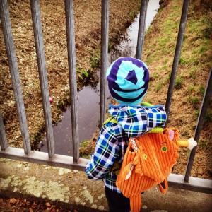 Herbstspaziergang mit dem Großen und dem Kleinen und dem Wuff