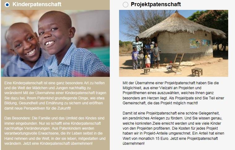 Kindernothilfe Patenschaft für ein Kind oder zur Förderung eines Projekts