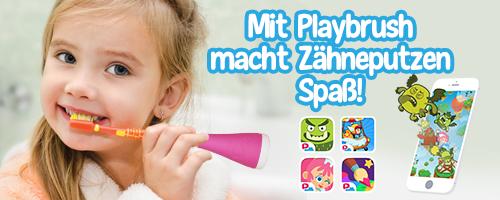 Mit Playbrush macht Zähneputzen Spaß!