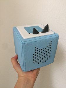 Die Toniebox: handlich, leicht, stoßfest und wasserabweisend. Durchdachtes Konzept für die Kleinsten!